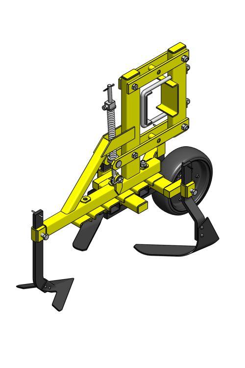 sorközművelő kultivátor kompakt művelőelem kocsi