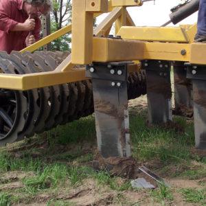 talajlazító T vas henger elmunkáló